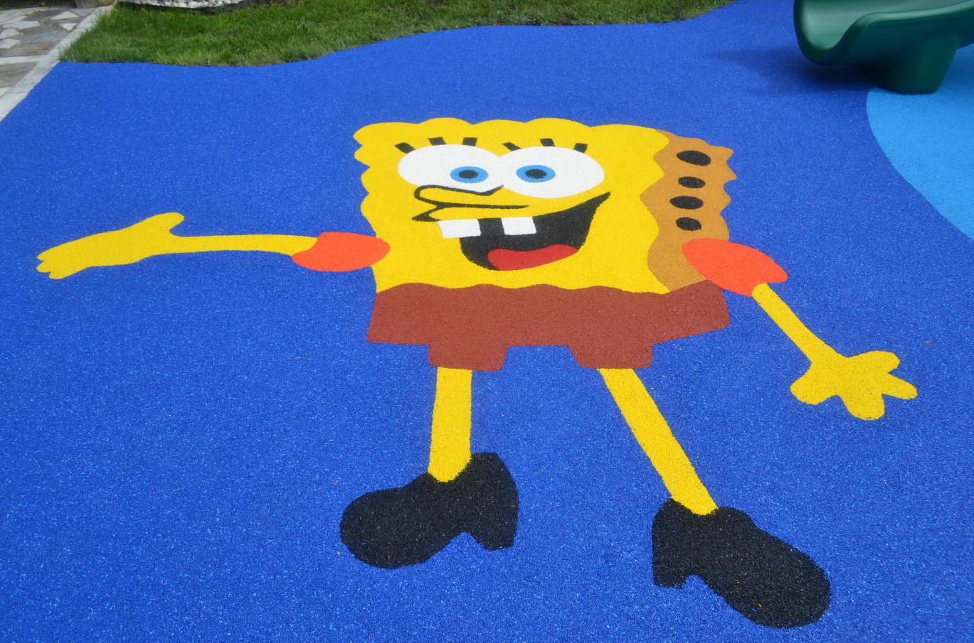Покрытие для детской площадки из каучуковой крошки